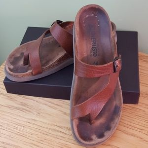 Mephisto Leather Sandal